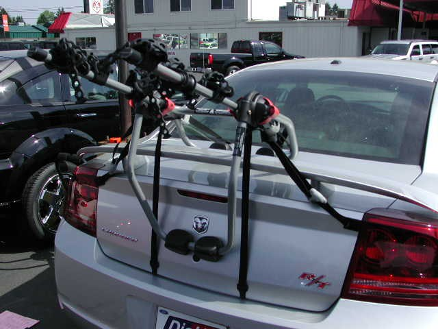 Fit of Yakima KingJoe Trunk Mounted Bike Rack # Y02620 on 2008 Dodge Charger with Factory ...
