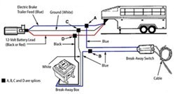 break away kit with charger installation on a 25 ft 2003 continental rh etrailer com 7 Pin Trailer Wiring Diagram 5 Pin Trailer Wiring Diagram
