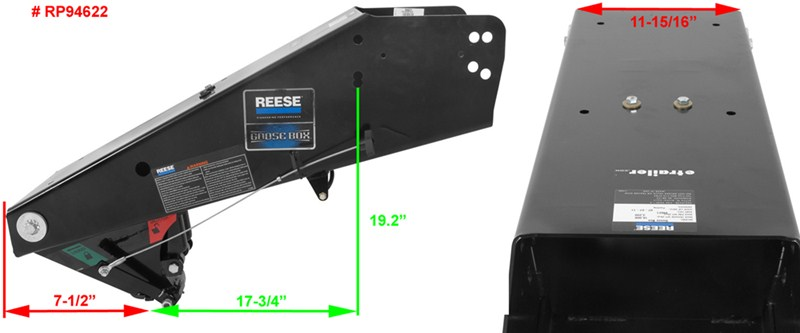 What Are The Measurements Of The Reese Goose Box Rp94622