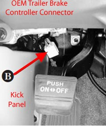 locating brake controller connector on 2013 toyota tacoma with rh etrailer com Nissan Frontier Trailer Wiring Harness Nissan Titan Trailer Wiring Harness