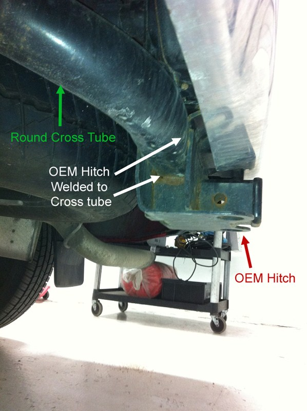 Ram 1500 Exhaust >> Trailer Hitch Option for a 2011 Ram 1500 Bighorn with OEM Hitch Under the Bumper | etrailer.com