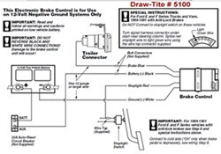 Draw-Tite Brake Controller # 5100 Does Not Have Power After ...