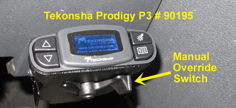 Tekonsha P2 >> Does the Tekonsha Prodigy P3 Have a Manual Override Switch