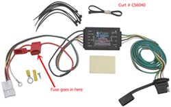 where does the fuse install on the curt custom wiring c56040 for rh etrailer com