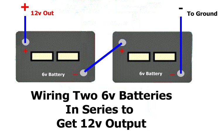 How to Wire Two 6 Volt Batteries In Series to Produce 12