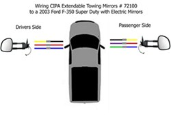 wiring diagram for the cipa extendable towing mirrors. Black Bedroom Furniture Sets. Home Design Ideas