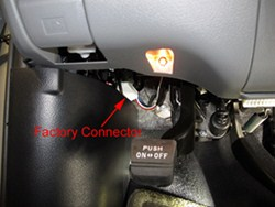 where is the trailer brake controller plug in on a 2007