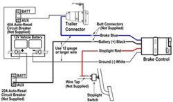 tekonsha voyager trailer brake controller 1 to 4 axles proportional Tekonsha Voyager Wiring Diagram Ford