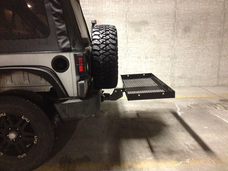 Will the Pro Series Folding Trailer Hitch Mount Cargo ...