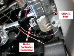 Location of Brake Controller Connector on 2005 Ford F150