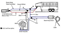 replacement trailer breakaway kit lid and wiring diagram for, Wiring diagram