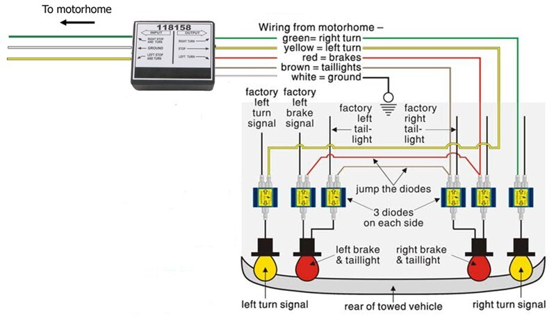 installing the roadmaster 6 diode universal wiring kit on a vehicle with separate light