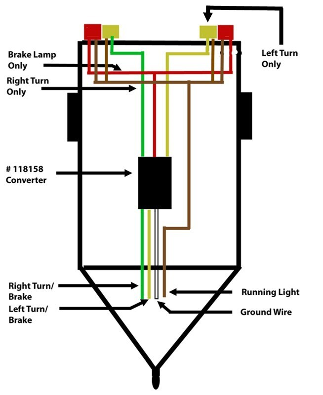 wiring a trailer so that turn signal and brake signal are