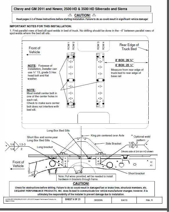2015 Chevrolet 2500 Hd Fifth Wheel Rail Kit Recommendation