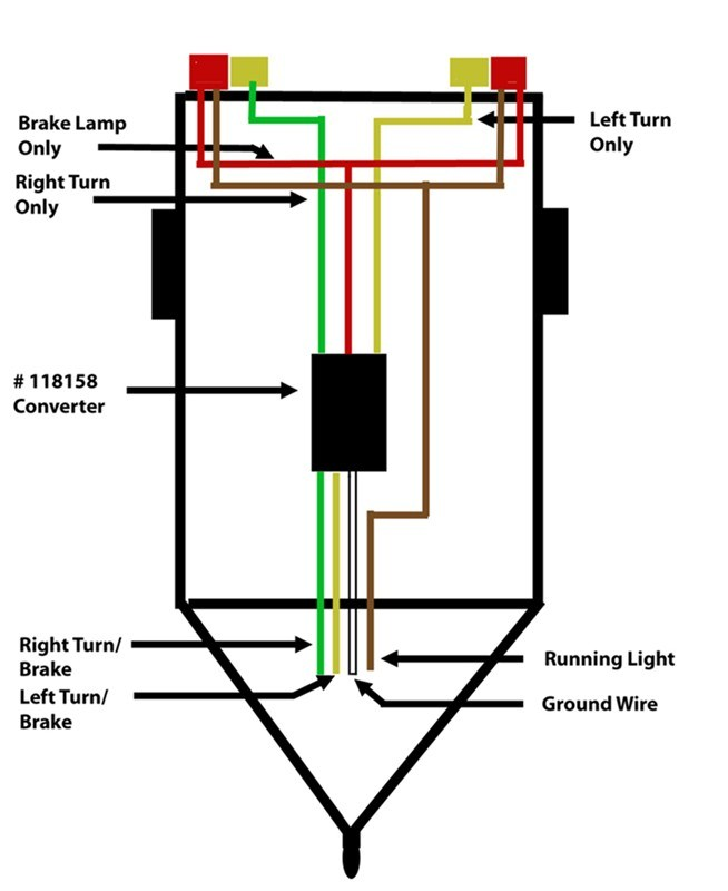 how to wire up a trailer with separate taillights to a 4 ... 4 way trailer light wiring diagram flat 4 way trailer plug wiring diagram