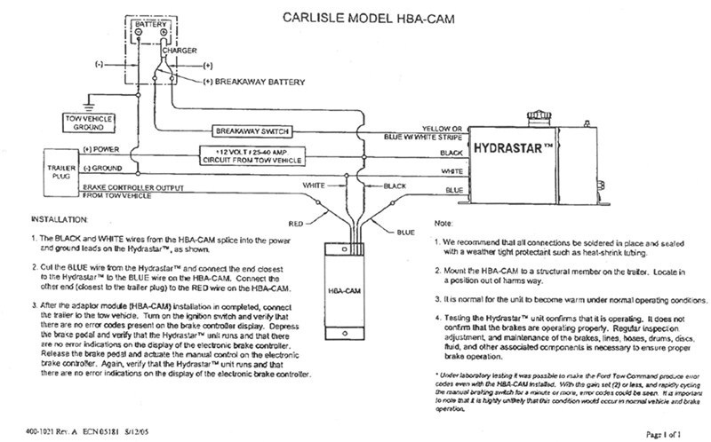 Hydraulic Brakes Diagram : Wiring diagrams for hydrastar electric over hydraulic