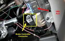 connecting brake controller to factory provided pigtail on