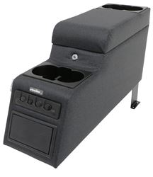 Rampage Locking Center Console for Jeep - Single Storage Compartment - Black Denim