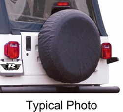 "Rampage Spare Tire Cover for Jeep - 27"" to 29"" - Black Denim"