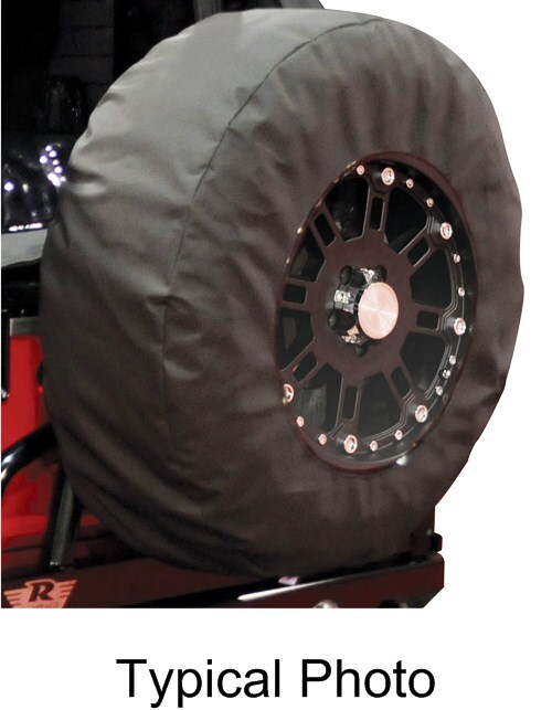 "Rampage Display Spare Tire Cover for Jeep - 33"" to 35"" - Black Diamond Spare Tire Cover RA783535"