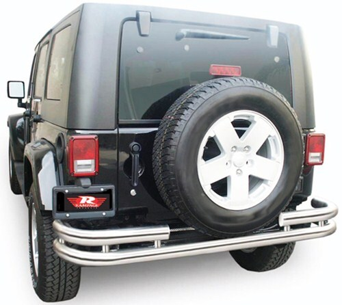 2010 Jeep Wrangler Unlimited Rampage Rear Double Tube
