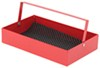 "Rampage Trail Can Locking Toolbox w Compartments - Steel - 13"" x 18"" x 6"" Red RA86619"