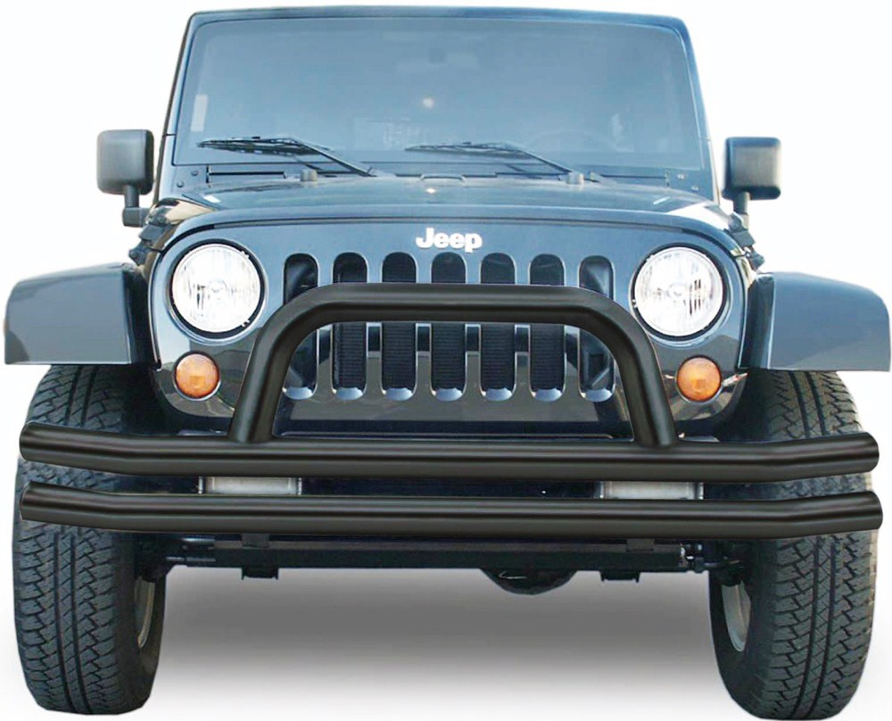 Jeep Grill Guards And Bumpers : Rampage front double tube bumper for jeep grille guard