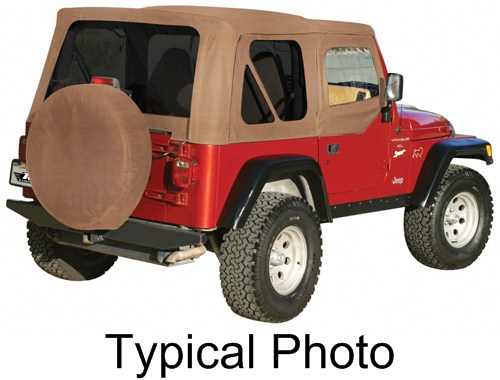 1998 Jeep Wrangler Rampage Replacement Soft Top Fabric For