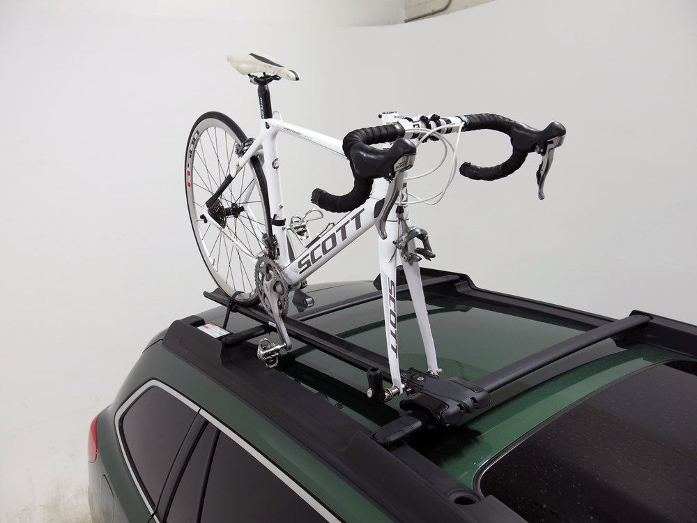 Subaru Outback Roof Rack >> 2015 subaru outback wagon Rhino-Rack MountainTrail Rooftop Bike Carrier - Fork Mount