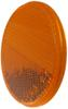 "Optronics Adhesive Reflector for Truck or Trailer - 2-3/16"" Round - Stick On - Amber - Qty 1 2 Inch Diameter RE37AB"