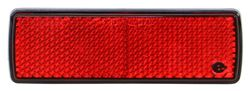 "Optronics Reflector for Truck or Trailer - 4"" x 1-1/4"" Rectangle - Stick On - Red - Qty 1"