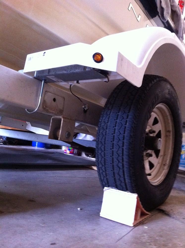 Single Axle Trailer Fenders w Mounting Brackets - White ...