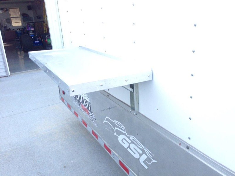 Tow Rax Wall Mounted Folding Table Aluminum 45 1 2
