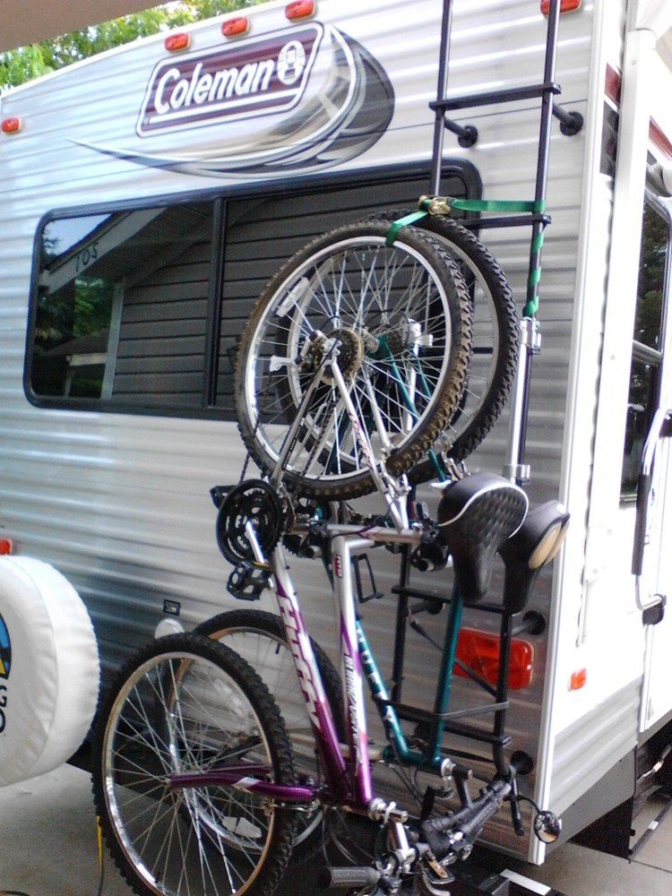 E Bike Reviews >> Surco 2 Bike Carrier for Vans and RVs - Ladder Mount Surco Products RV and Motorhome Bike Racks ...