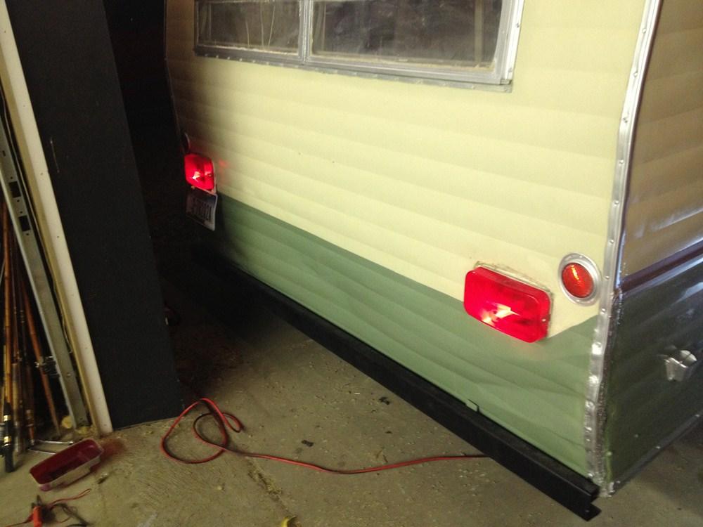 RV Tail Light - Stop, Tail, Turn - Rectangle - Red Lens - Passenger