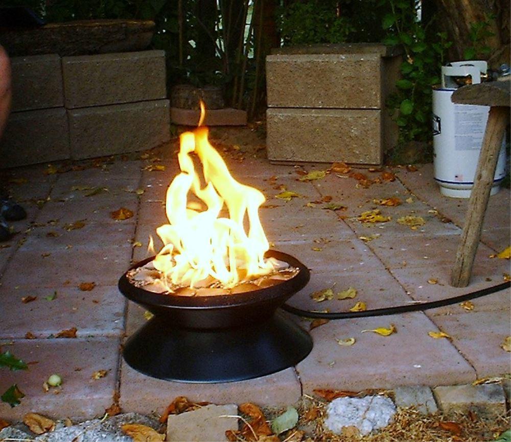 Fire Dancer Portable Patio Fire Pit Propane Convert A