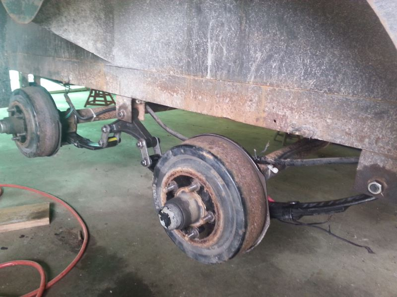 Dual Wheel Axles For Trailer : Suspension kit for tandem axle trailers quot wide