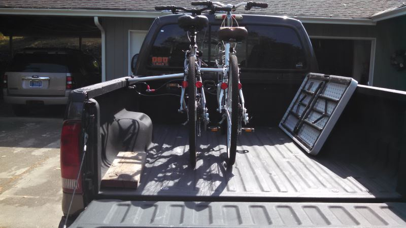 Topline 2 Bike Carrier Truck Bed Mounted Expandable Bike