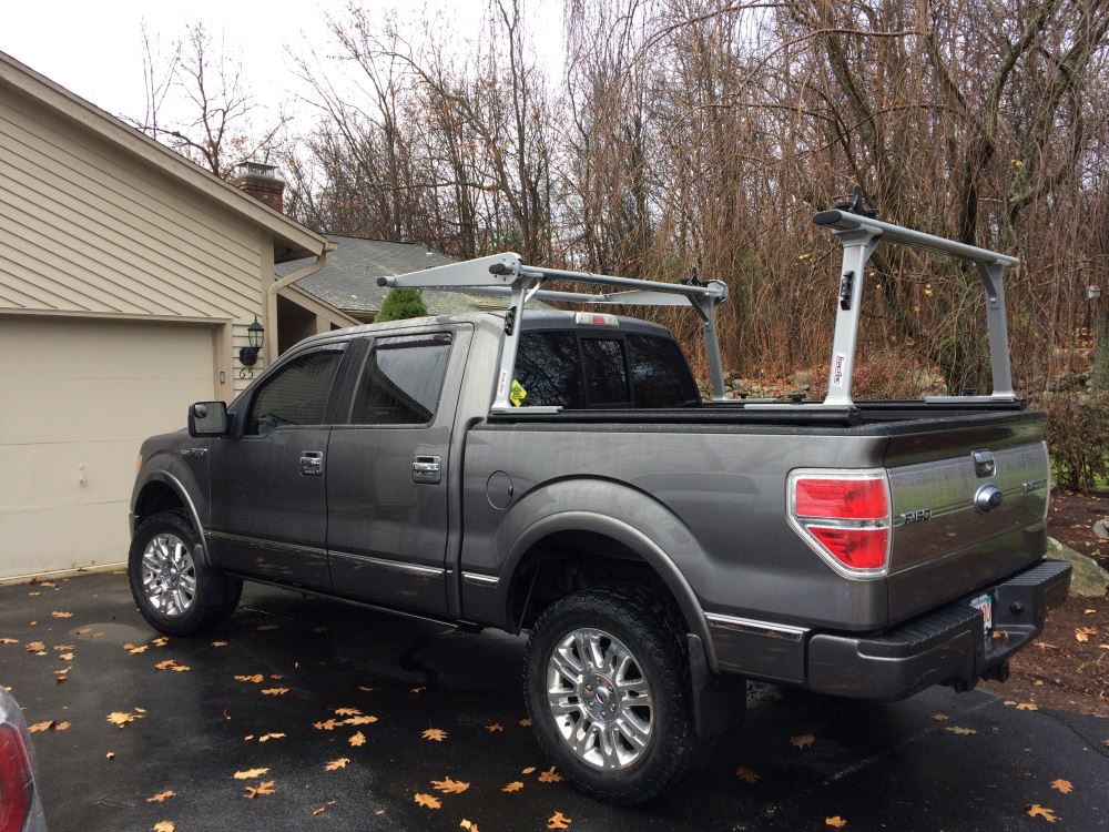 Ford F 150 Ladder Rack >> TracRac SR Sliding Truck Bed Ladder Rack w/ Over-the-Cab Extension - 1,250 lbs TracRac Ladder ...