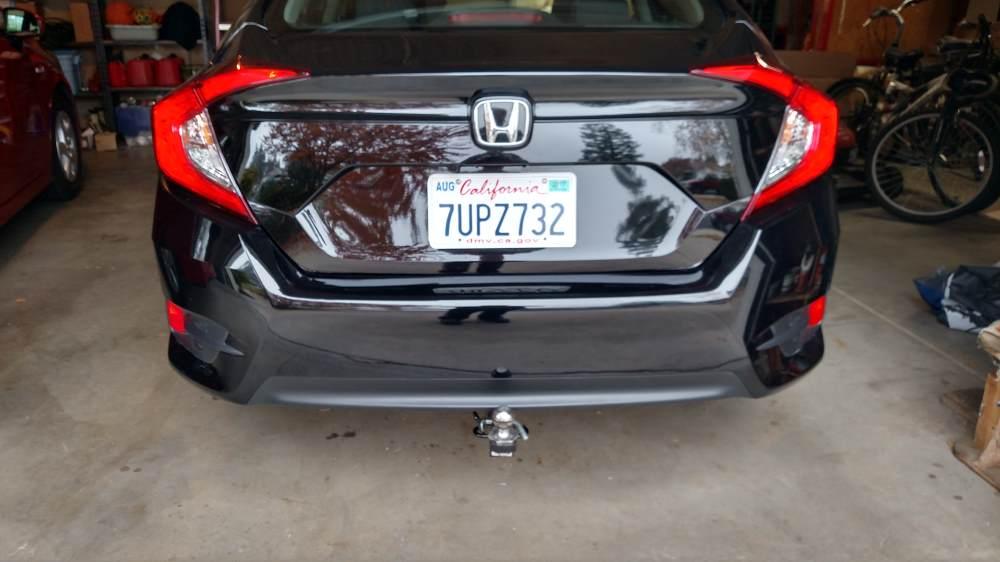 """2017 Honda Civic Draw-Tite Sportframe Trailer Hitch Receiver - Custom Fit - Class I - 1-1/4"""""""
