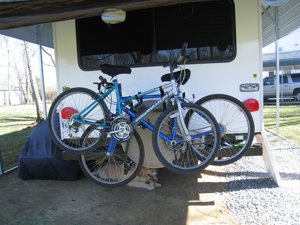 Rv Bumper 2 Bike Rack For Around The Spare Tire Swagman