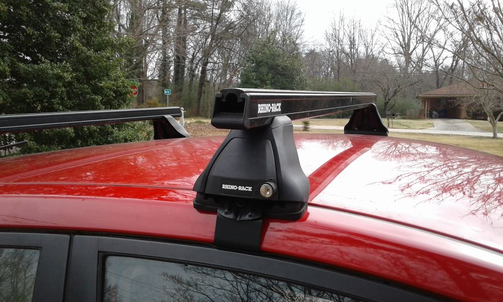 Honda CR-V Rhino-Rack Heavy-Duty Roof Rack Crossbars - Black