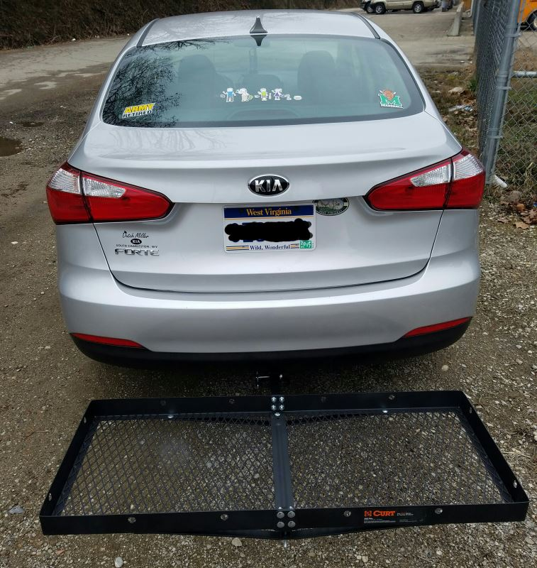 """19x47 Curt Cargo Carrier For 1-1/4"""" And 2"""" Hitches"""