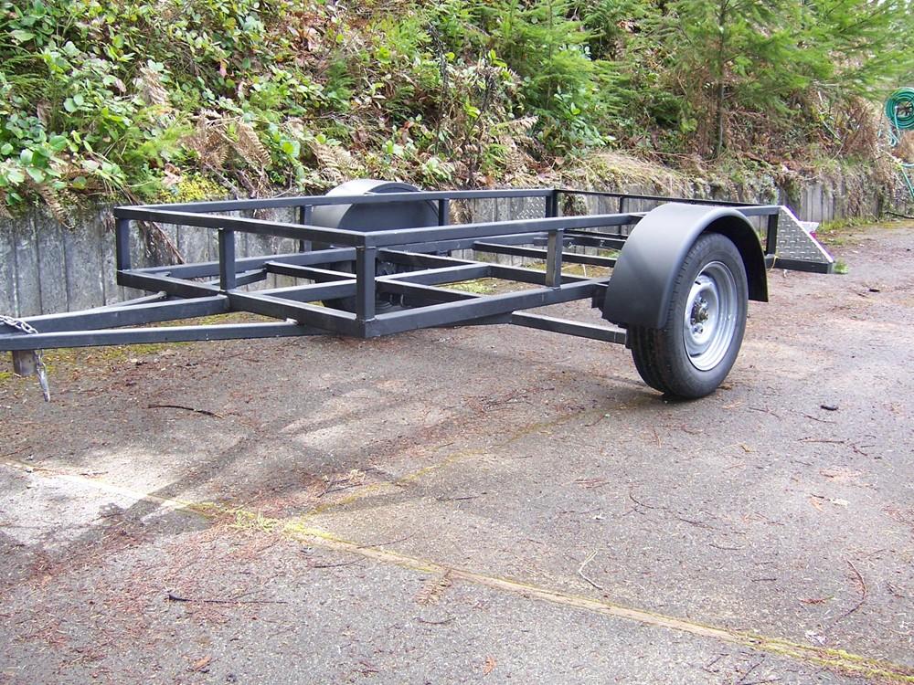 Trailer Fenders With Backing Plate : Single axle trailer fender w backing gauge steel