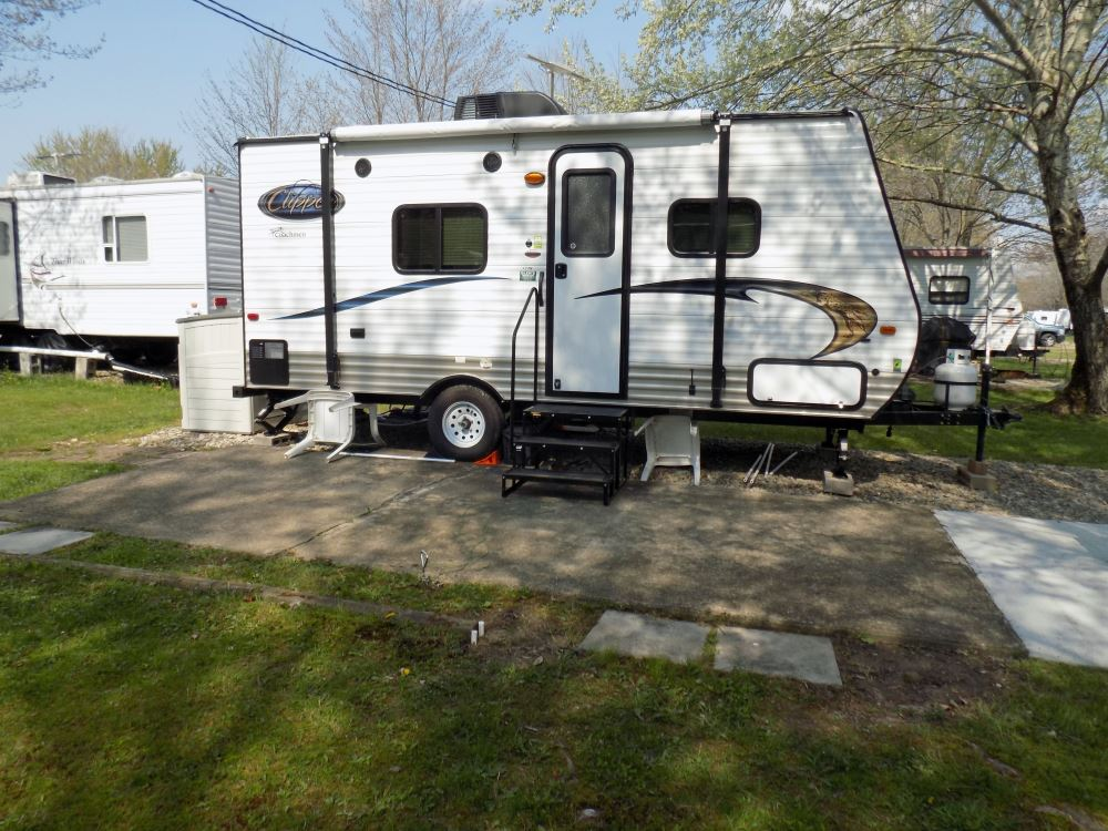 Econo Porch Trailer Step with Handrail and Landing ...