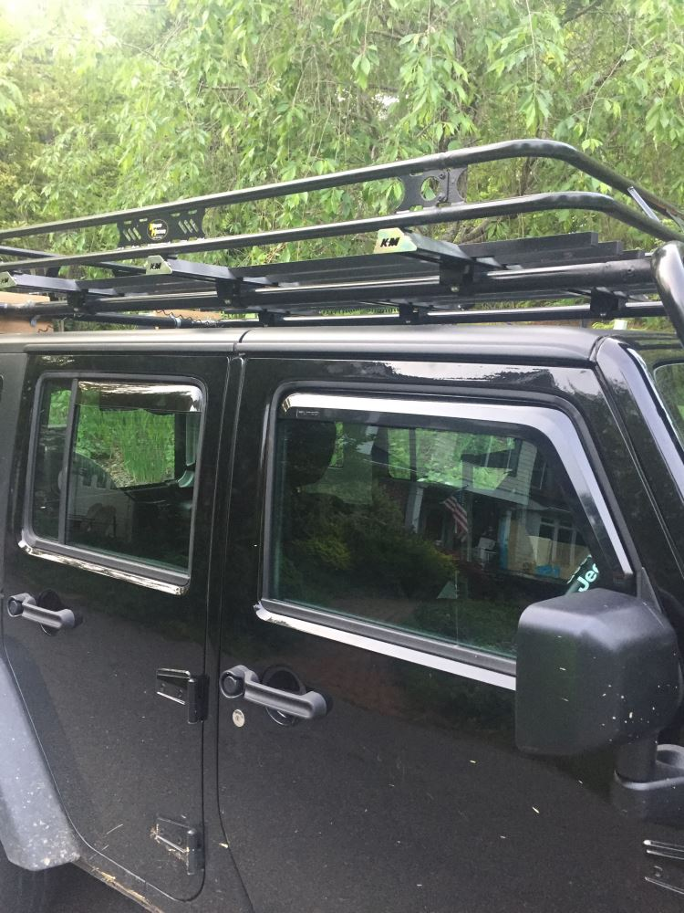 2017 Jeep Wrangler Putco Element In Channel Window Visors