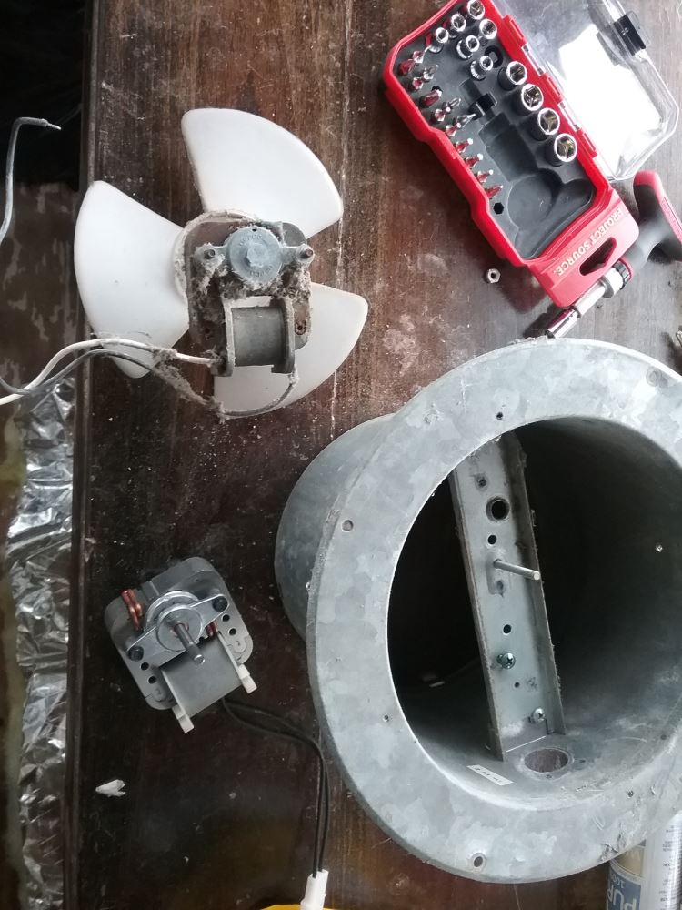 Replacement 110-Volt AC Fan Motor For Ventline RV Bathroom