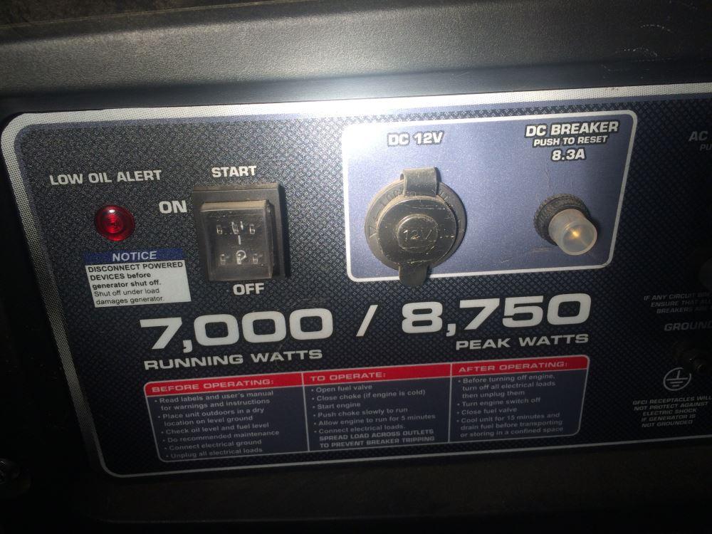 Power Grip Generator Adapter For Rv Power Cord - 125v
