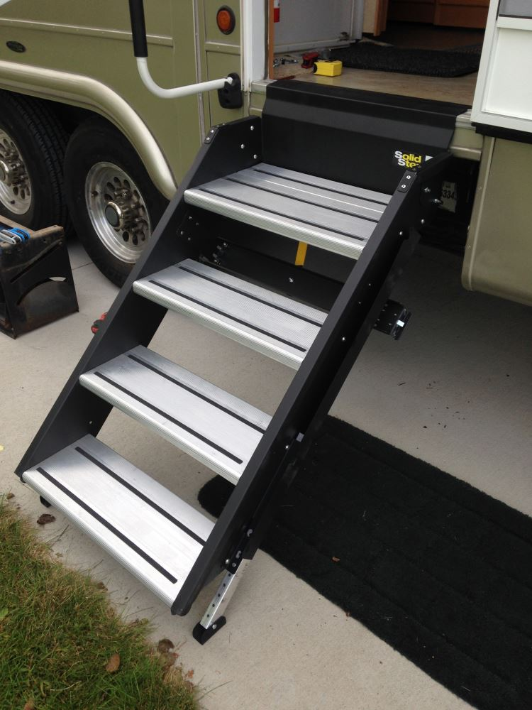 """Used Rv Prices >> SolidStep Manual Fold-Down Steps for RVs - 24"""" Wide - Quadruple - Aluminum Lippert Components RV ..."""