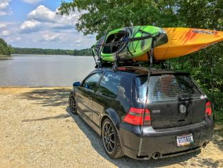 Kayaks on Roof Rack